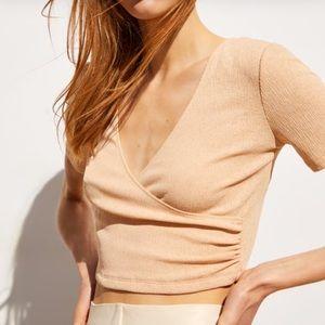 Zara Cropped Wrap Top